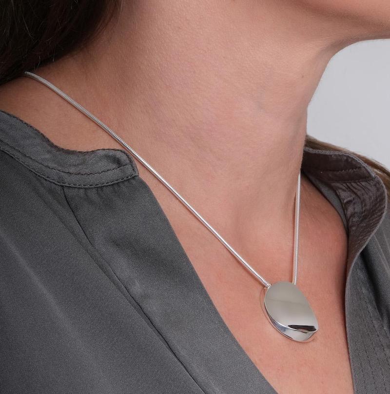 Atlantic Medium Solid Silver Pendant - Maureen Lynch