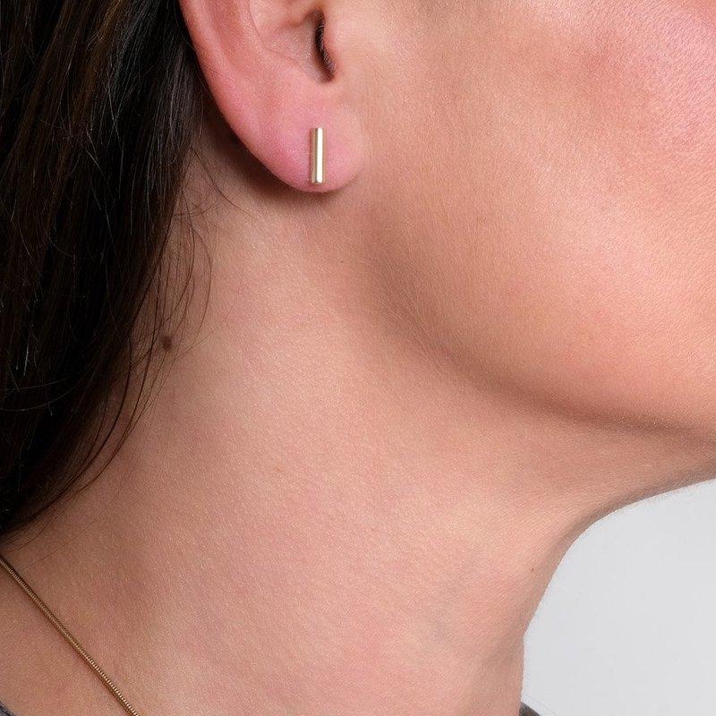 Atlantic Silver Bar Earrings