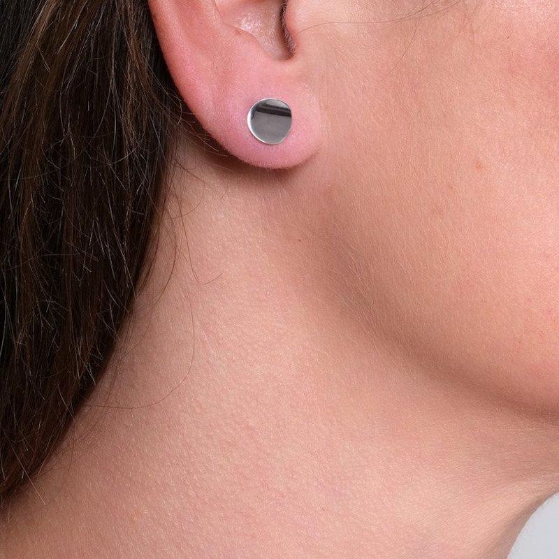 Atlantic Small Gold Stud Earring - Maureen Lynch