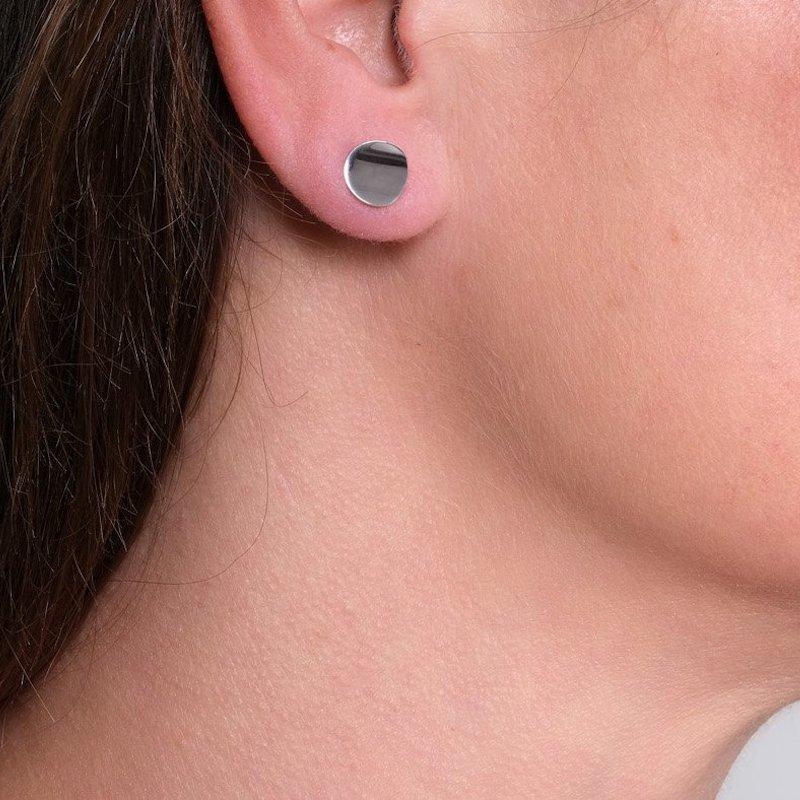 Atlantic Small Silver Stud Earrings - Maureen Lynch