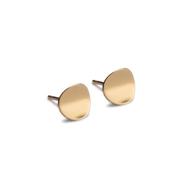 Atlantic Gold Stud Earring. Unique designer jewellery handcrafted in Ireland.