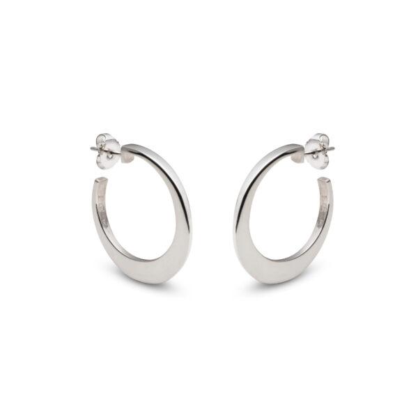 Circle of Dreams Small Silver Hoop Earrings