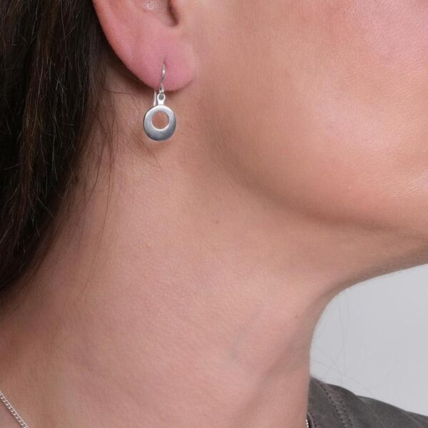 Circle of Dreams Silver Drop Earrings - Maureen Lynch