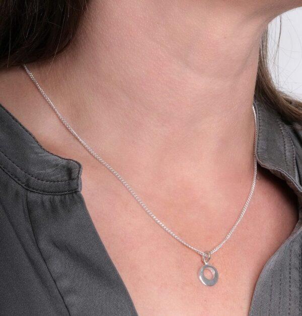 Circle of Dreams Silver Necklace