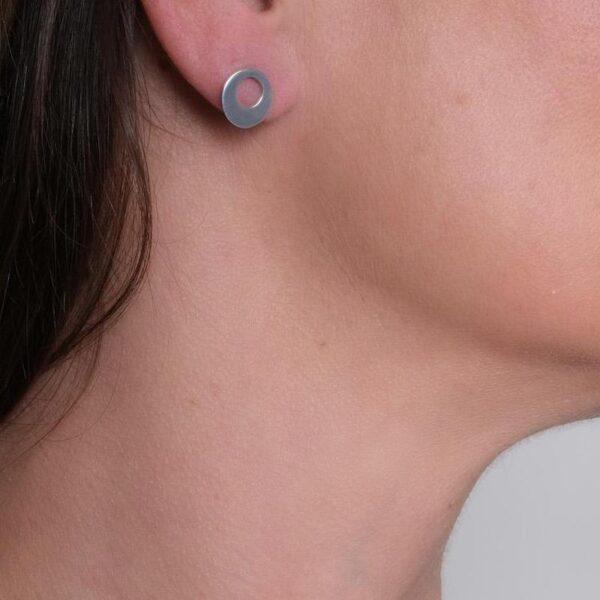 Circle of Dreams Silver Stud Earrings