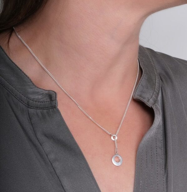 Circle of Dreams Silver and Gold Lariat Pendant