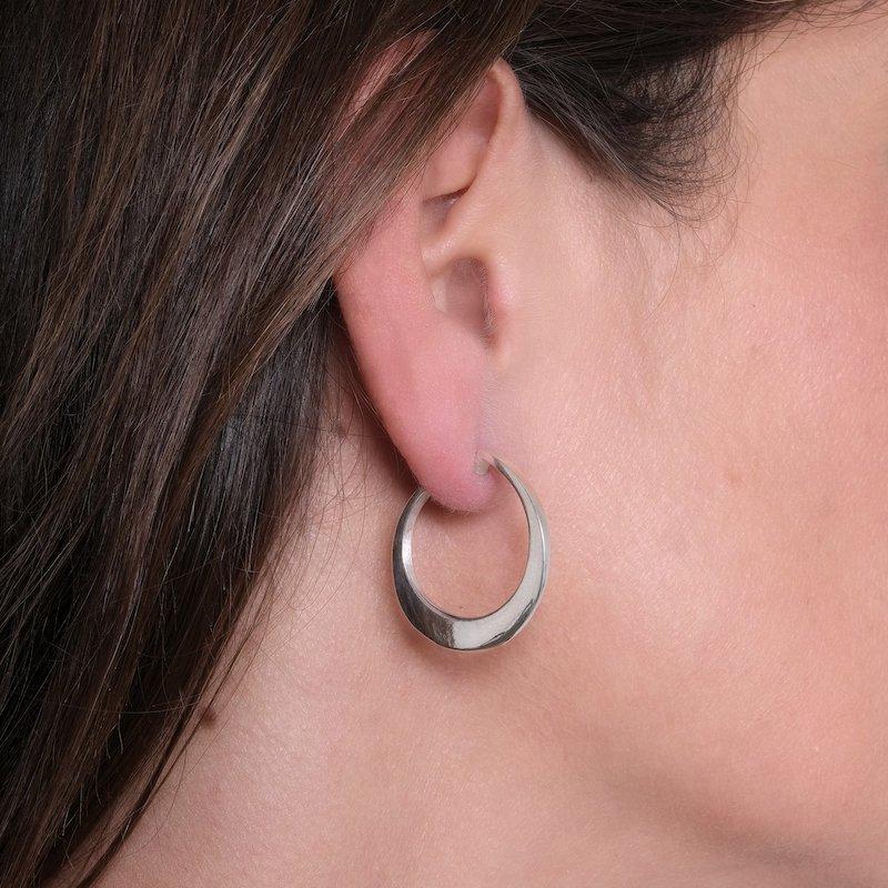 Circle of Dreams Small Silver Hoop Earrings - Maureen Lynch