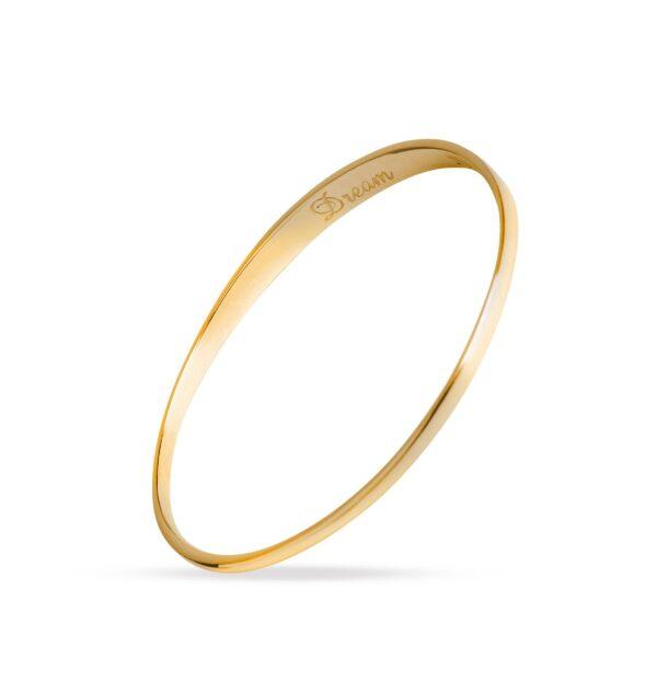 Dream Gold Bangle. Unique designer jewellery handcrafted in Ireland.