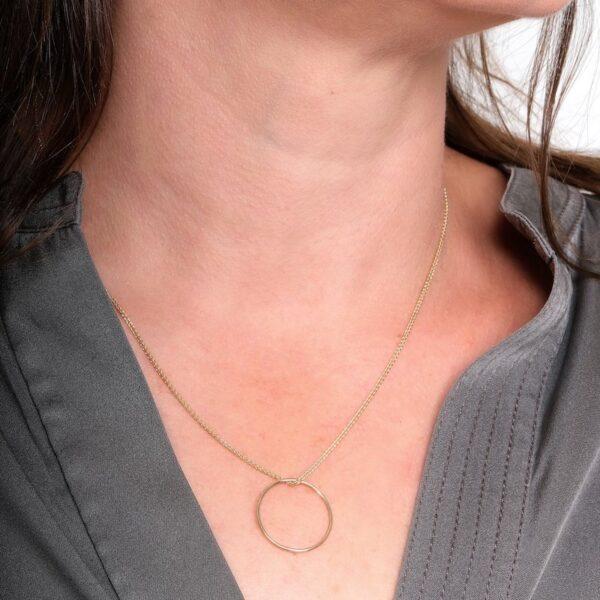 Gold Circle Small Pendant - Maureen Lynch