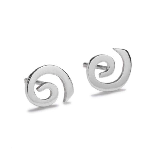 Solstice Silver Stud Earrings