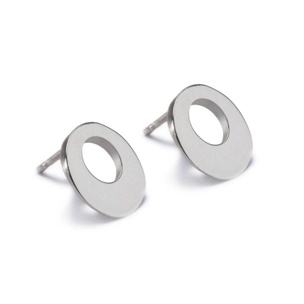 Circle of Dreams Stud Earrings. Unique designer jewellery handcrafted in Ireland.