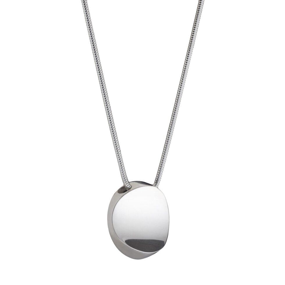 Atlantic Pendant. Solid Sterling Silver. Unique designer jewellery handcrafted in Ireland.