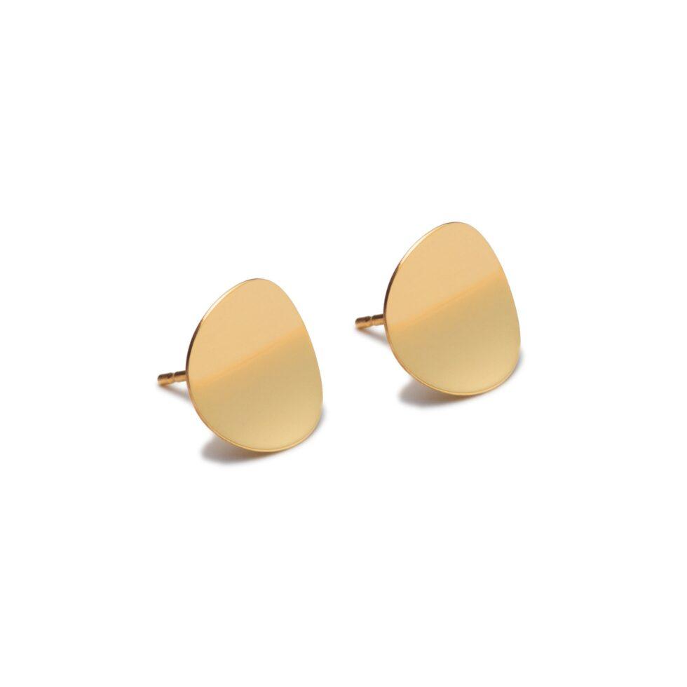 Atlantic Gold Stud Earrings. Unique designer jewellery handcrafted in Ireland.