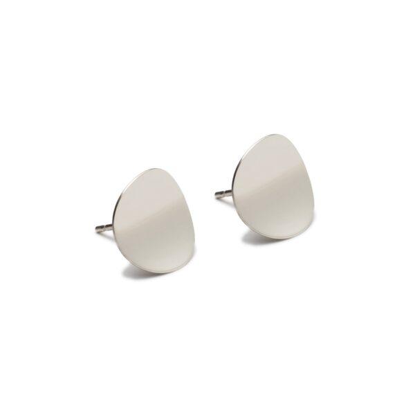 Atlantic Silver Stud Earrings. Unique designer jewellery handcrafted in Ireland.