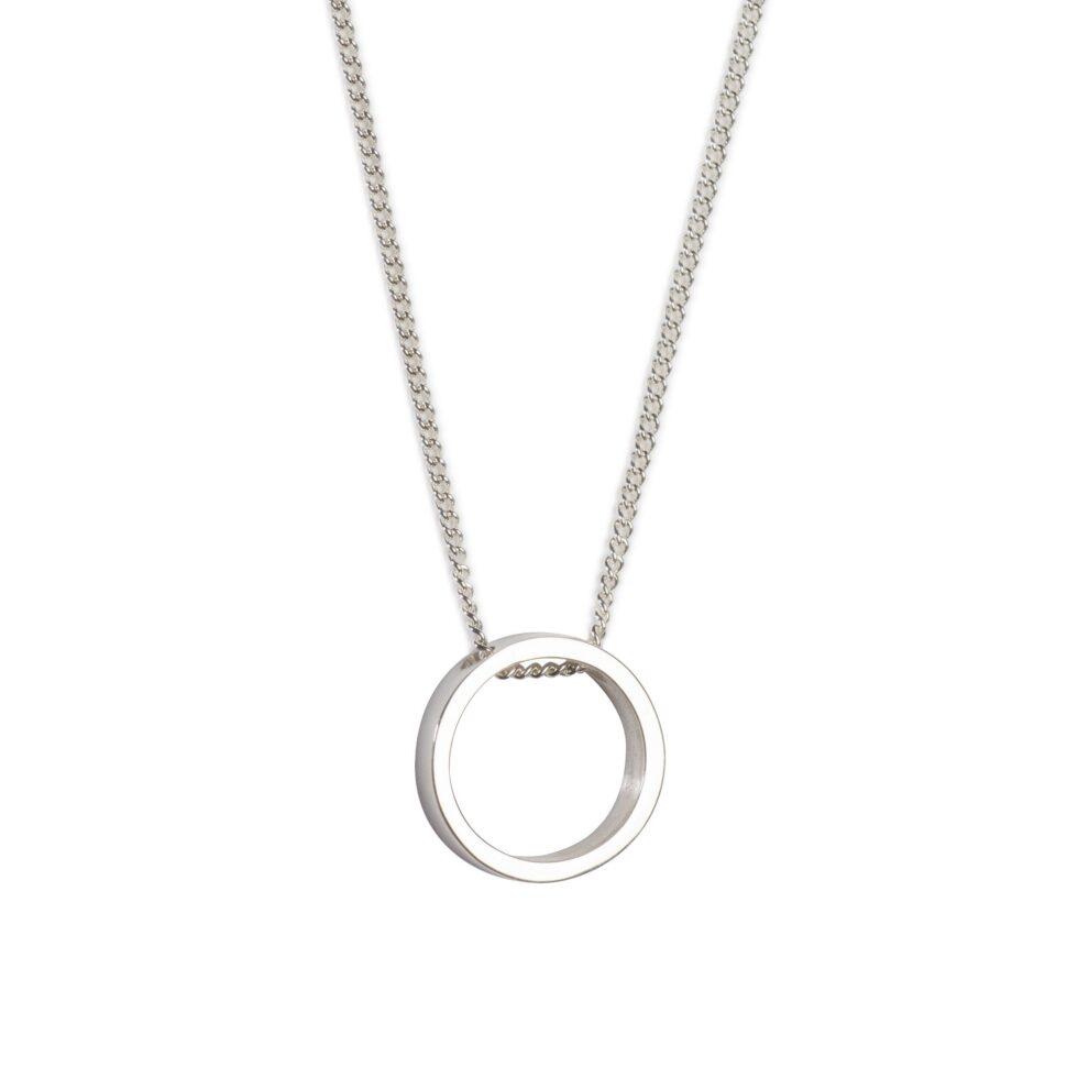 Daisy Days Mini Silver Pendant. Unique designer jewellery handcrafted in Ireland.