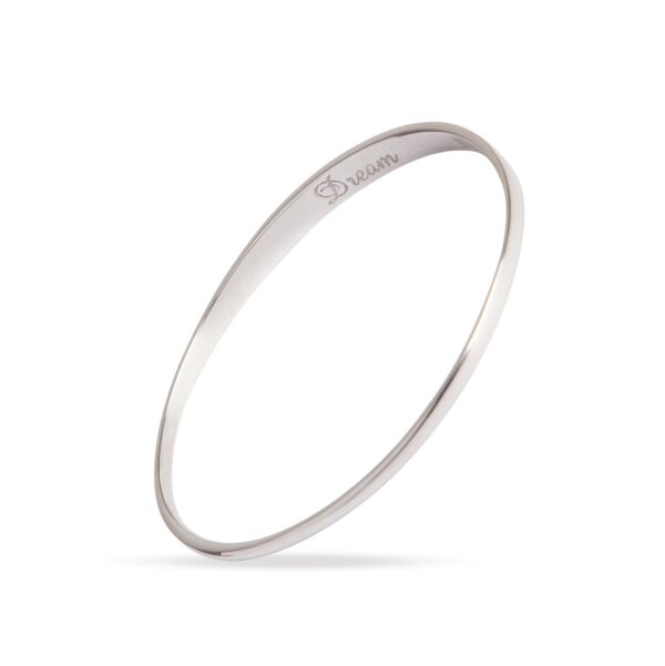 Dream Silver Bangle. Unique designer jewellery handcrafted in Ireland.