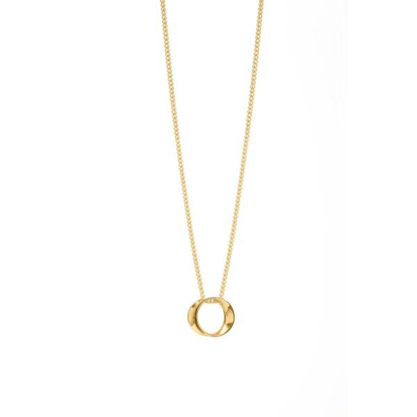 Wave mini gold pendant -Maureen Lynch