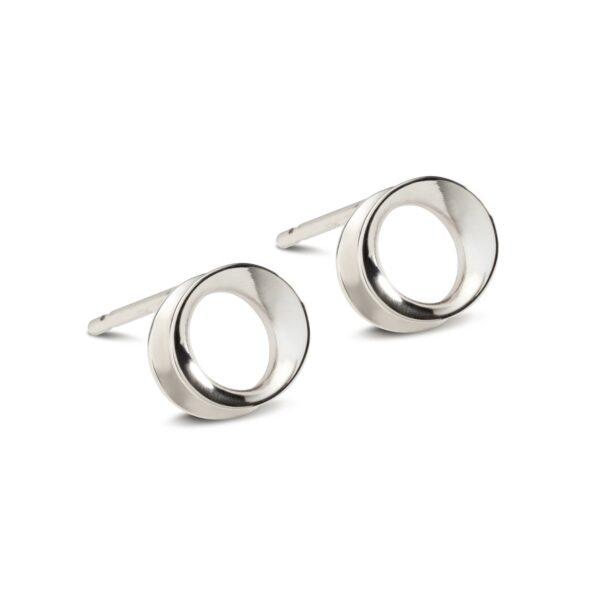 Wave silver stud earring-Maureen Lynch